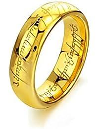 Anillos de acero inoxidable 316L, de El señor de los anillos.