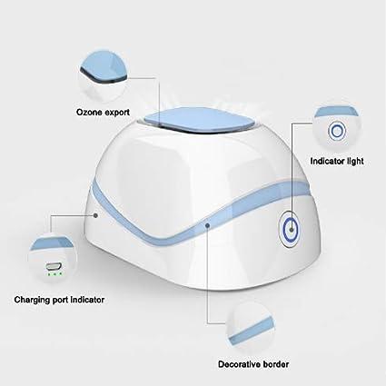 Purificador de Aire del Coche Mini desodorizador de desinfecci/ón con ozono Carga USB para la Oficina de Viajes en el Coche Refrigerador del Hogar Armario Ba/ño