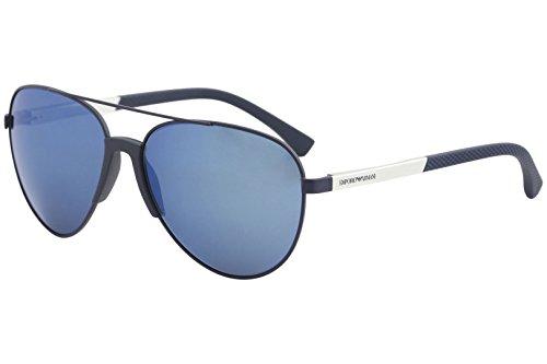 Emporio Armani Men's EA2059 EA/2059 3202/55 Matte Blue Pilot Sunglasses ()