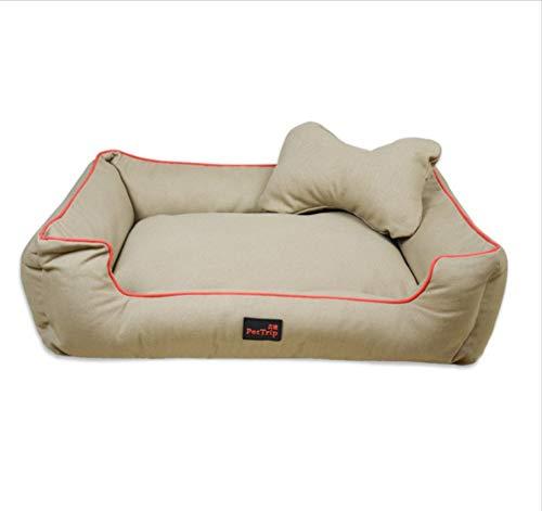 C M(65X50X18CM) C M(65X50X18CM) Dog House Cat Nest Pet Nest Big Kennel Detachable Wash golden Dog Pet Nest