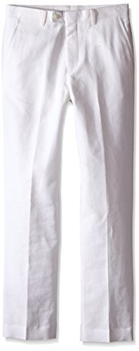 Nautica Big Boys' Linen White Pant, 10