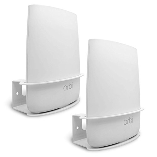 - ALLICAVER Compatible Wall Mount Netgear Orbi, Sturdy Metal Made Mount Stand Holder Compatible Orbi WiFi Router RBS40, RBK40, RBS50, RBK50, AC2200, AC3000. (2pcs)
