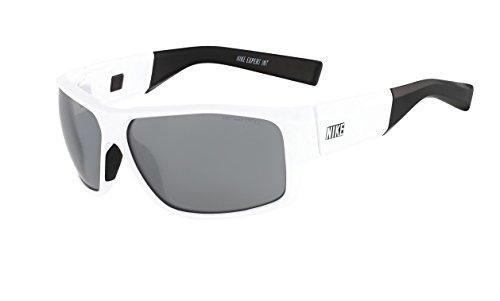 NIKE Grey with Silver Flash Lens Expert Interchange Sunglasses, White/Black/Volt ()
