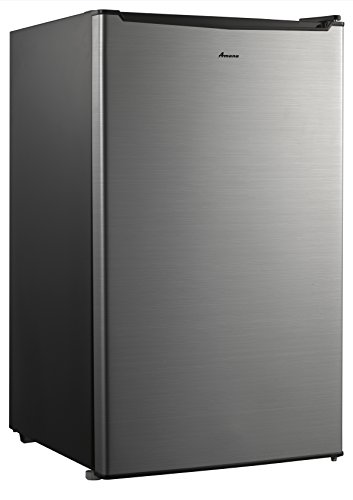 Amana AMA35S1 Compact Single Door Refrigerator, 3.5 cu. ft, Stainless Steel