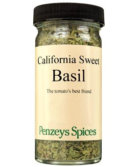 Basil California Sweet By Penzeys Spices .4 oz 1/2 cup jar