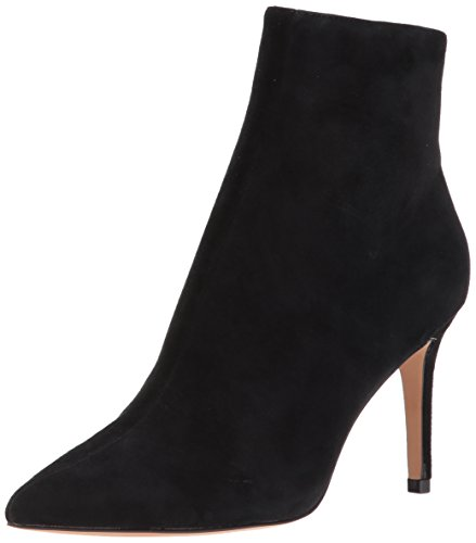 STEVEN by Steve Madden Women's Logic Ankle Boot, Black Suede, 8 M US