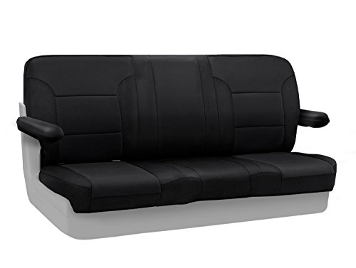 Chevrolet Seats Blazer - Coverking Custom Fit Rear Solid Bench Seat Cover for Select Chevrolet Blazer/K5 Blazer Models - Neosupreme Solid (Black)