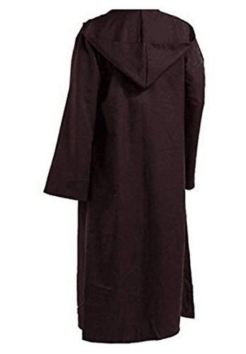 SURPCOS Tunic Hooded Robe Cloak Knight Full Length Cosplay Costume Cape (Child, Brown)