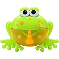 Sunsoar Baby Big Frogs Automatic Bubble Maker Blower Toy Music Bathtub Soap Machine Birthday Chriamas New Year Gift Puzzle Education Learning