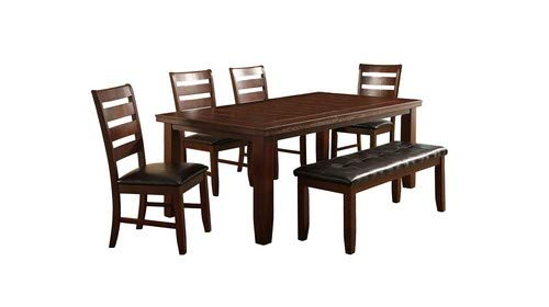 Butterfly Leaf Table Set - Milton Greens Stars 8840DB Alicante Butterfly Leaf Dining Table, 64 by 42 by 30-Inch, Dark Brown