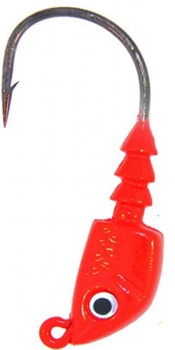 Bass Assassins Lead/Red Eye 1/4-Ounce Jighead Lure-Pack of 4, Red Eye, Size 4/0
