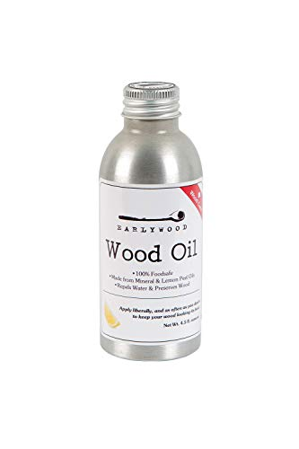 Earlywood 4.5 oz. Lemon Mineral Oil for Cutting Boards and Wooden Kitchen Utensils and Spoons; Food Safe, Clear, Lemon-scented mineral oil - 4.5 oz.