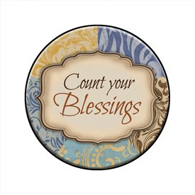Count Your Blessings Mini Plate with Easel