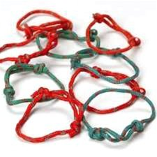 Friendship Bracelets - Red and Green - 48 per unit