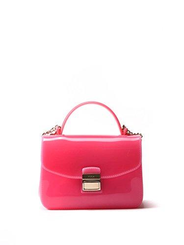 FURLA WOMEN'S 81733000Z PINK PLASTIC SHOULDER BAG
