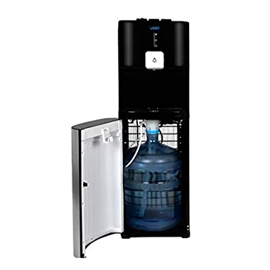 Lago CLBL220 Bottom Load Hot, Cold & Room Black Water Cooler Dispenser