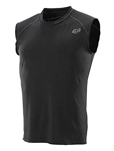 2014 Fox Racing First Layer Sleeveless Jersey (L, Black) ()