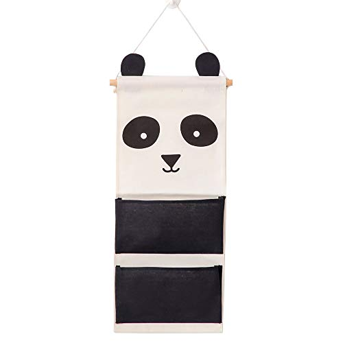 Cute Panda Wall Mounted Storage Bag Over The Door Storage Pockets Wall Door Closet Hanging Storage Bag Organizer