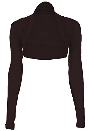 Fashion Victim, Ladies Long Sleeve Bolero Shrug, Cardigan in Black ...