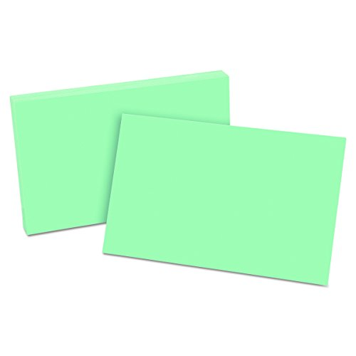 Oxford Blank Color Index Cards, 5