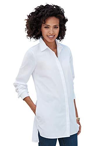 Chadwicks of Boston Womens Button-Front Shirt White