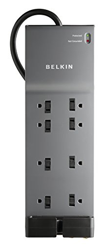 Belkin 8-Outlet Home and Office Power Strip Surge Protector with 6-Foot Power (Belkin Compact Surge Protector)