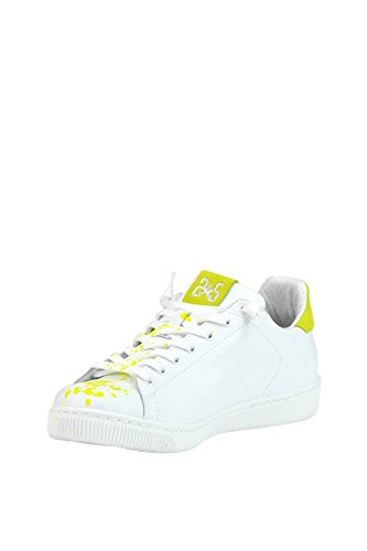 2STAR Women's MCGLCAK03017E White Leather Sneakers YLs6dP