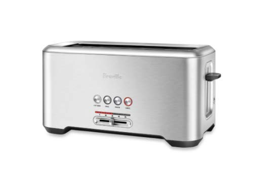 Breville BTA730XL Stainless Steel Long Slot Toaster''The Bit More'' 4-Slice Toast