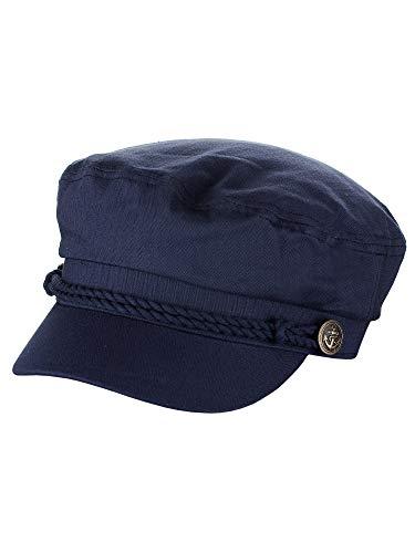 NYFASHION101 Unisex 100% Cotton Greek Fisherman Sailor Fiddler Driver Cap Hat, Navy