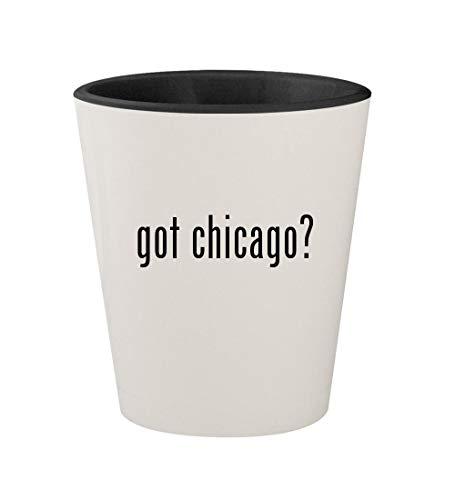 got chicago? - Ceramic White Outer & Black Inner 1.5oz Shot Glass