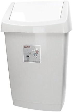 Click It Mülleimer mit Schwingdeckel 25 L grau meliert Abfalleimer Eimer Abfall