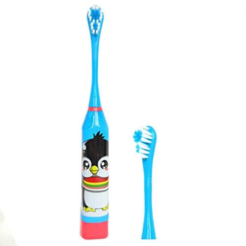調査パラダイス豊かにする子供用電動歯ブラシ子供用電動歯ブラシ漫画パターン超音波防水歯ブラシ、ブルー