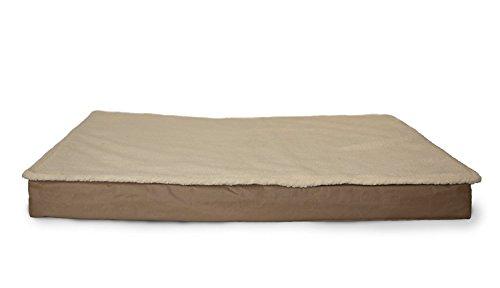 Furhaven Pet 32203433-M Deluxe Outdoor Memory Foam Pet Bed, Small, Convertible Top Sand