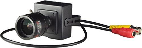 CMOS 1000TVL Varifocal Mini CCTV Camera With IR Filter 2.8-12mm Lens Hidden Case Camera Pinhole camera With Bonus Power Supply (Low Pinhole Lux Camera)