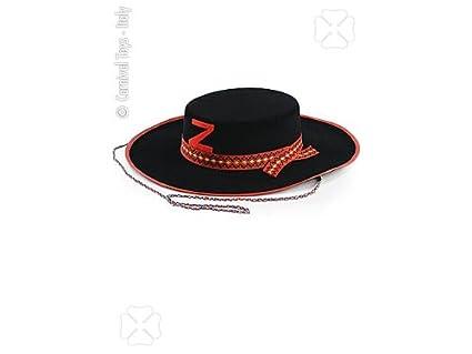 Carnival 05570 - Cappello Cavaliere Nero grande in bifloccato ... 6bc04cf6a0ea