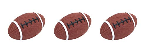 Rascals Vinyl Football Dog Toy, 4 Inch, with in-Line Squeaker (3 Pack)