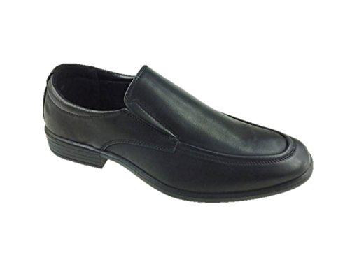 Da uomo Bata in similpelle Slip On scarpe formale Ufficio Nero Size 7–12