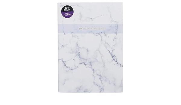 WHSmith 2019 - Agenda de mármol (tamaño A5), color blanco ...