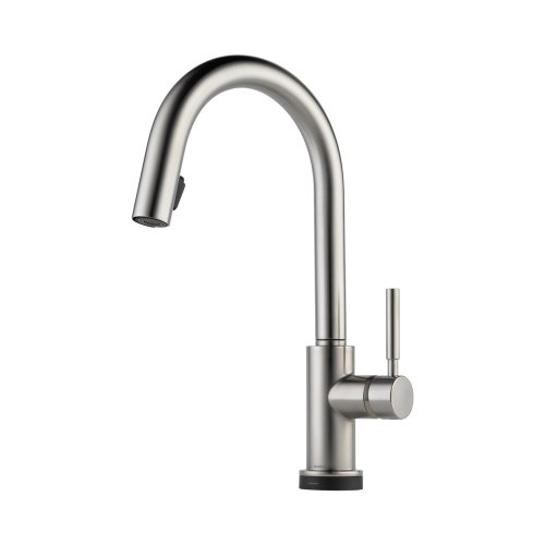 Brizo 64020LF-SS Solna Kitchen Faucet Single Handle with Multi-Functional Pull-Down Sprayer and Smart Touch, Stainless Steel ()