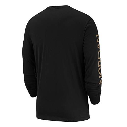 Nike Men's Jordan Mashup Classics Long-Sleeve Classics Crew T-Shirt AT8897-012 Size 2XL 2