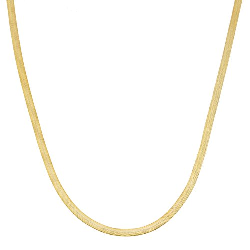 Kooljewelry 10k Yellow Gold Herringbone Chain Necklace (1.67 mm, 18 inch)