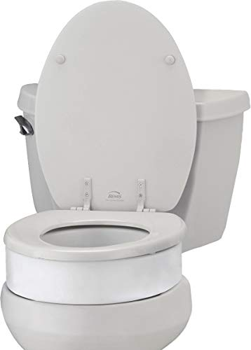 NOVA Toilet Seat Riser, Raised Toilet Seat (For Under Seat), For Elongated Toilet Seat