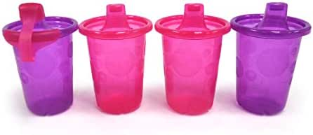 The First Years Take & Toss Spill Proof Sippy Cups, 10 Ounces, Pack of 4