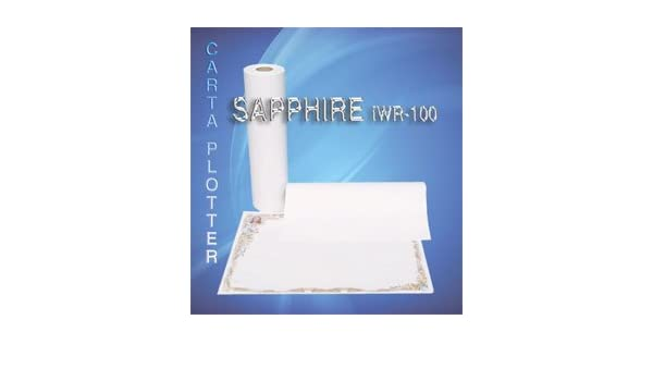 Papel Plotter Sapphire iwr100 F. to 48 cm. x 50 MT. Gr.100 (conf. de 5 Rollos): Amazon.es: Electrónica