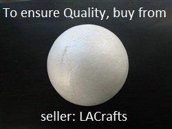 LACrafts 12PC6SFB Brand Smooth Foam Craft Ball, Polystyrene (Not Styrofoam), 6'' H x 6'' W, Pack of 12