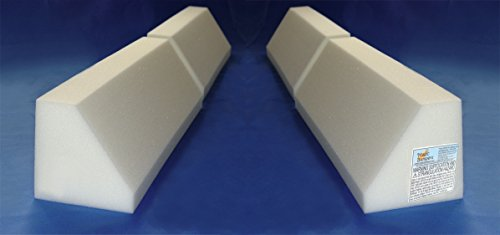[2 Pack] Magic Bumpers Child Bed Safety Guard Rail 48 Inch - Travel Size: Two-Part - Wedge Strap Travel