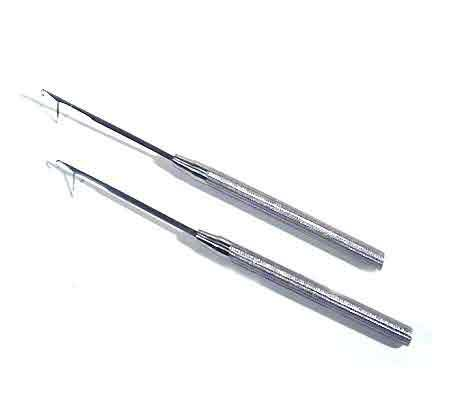 2 PCS Micro Rings Links Stainless Steel Pulling Needle For I Tip Stick Feather Bonded Hair Extensions