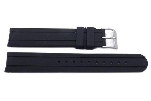 Swiss Army Genuine Rubber Black 16mm Officer's Self Winding Watch Strap
