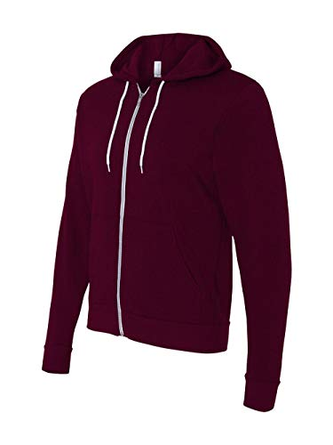 Bodek And Rhodes 61531355 3739 Bella Canvas Unisex Poly-Cotton Fleece Full-Zip Hoodie Maroon - Large