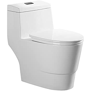 One Piece Dual Flush Toilet Black Amazon Com